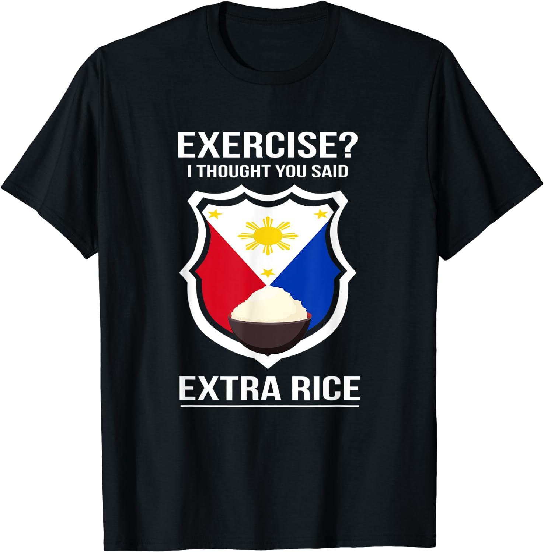 Funny Filipina Filipino Food Joke Rice Philippines T-Shirt