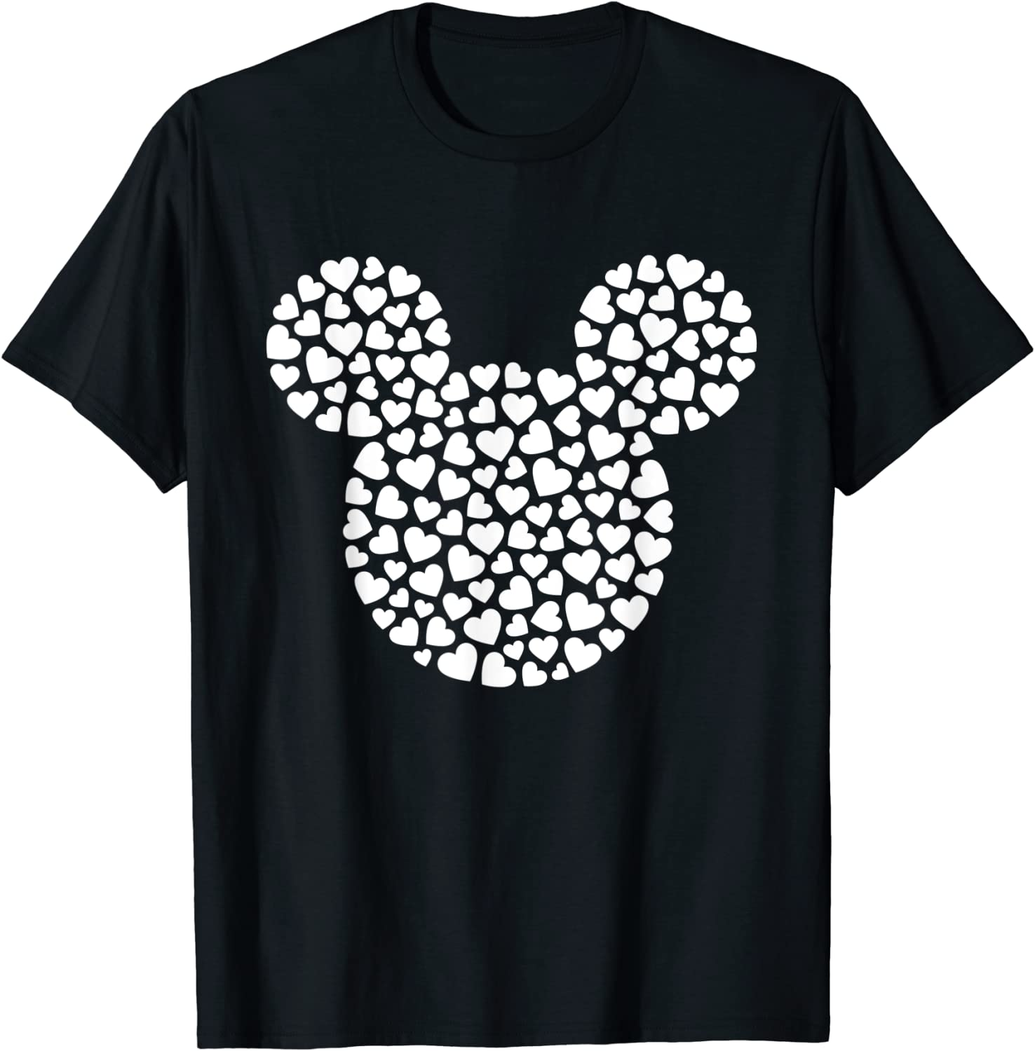 Disney Mickey Mouse Icon Filled with Hearts T-Shirt