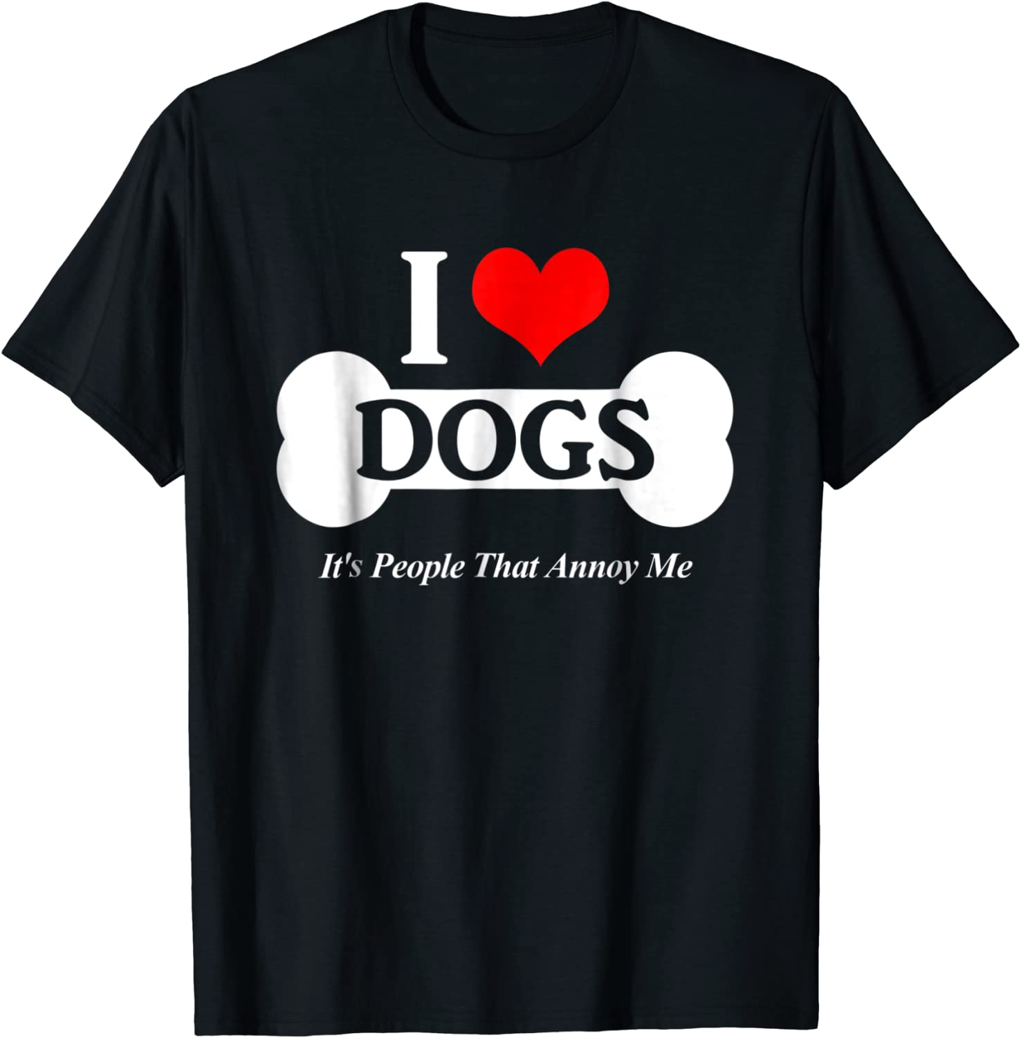 I Love Dogs It/'s People That Annoy Me Slouchy Off Shoulder Oversized Sweatshirt