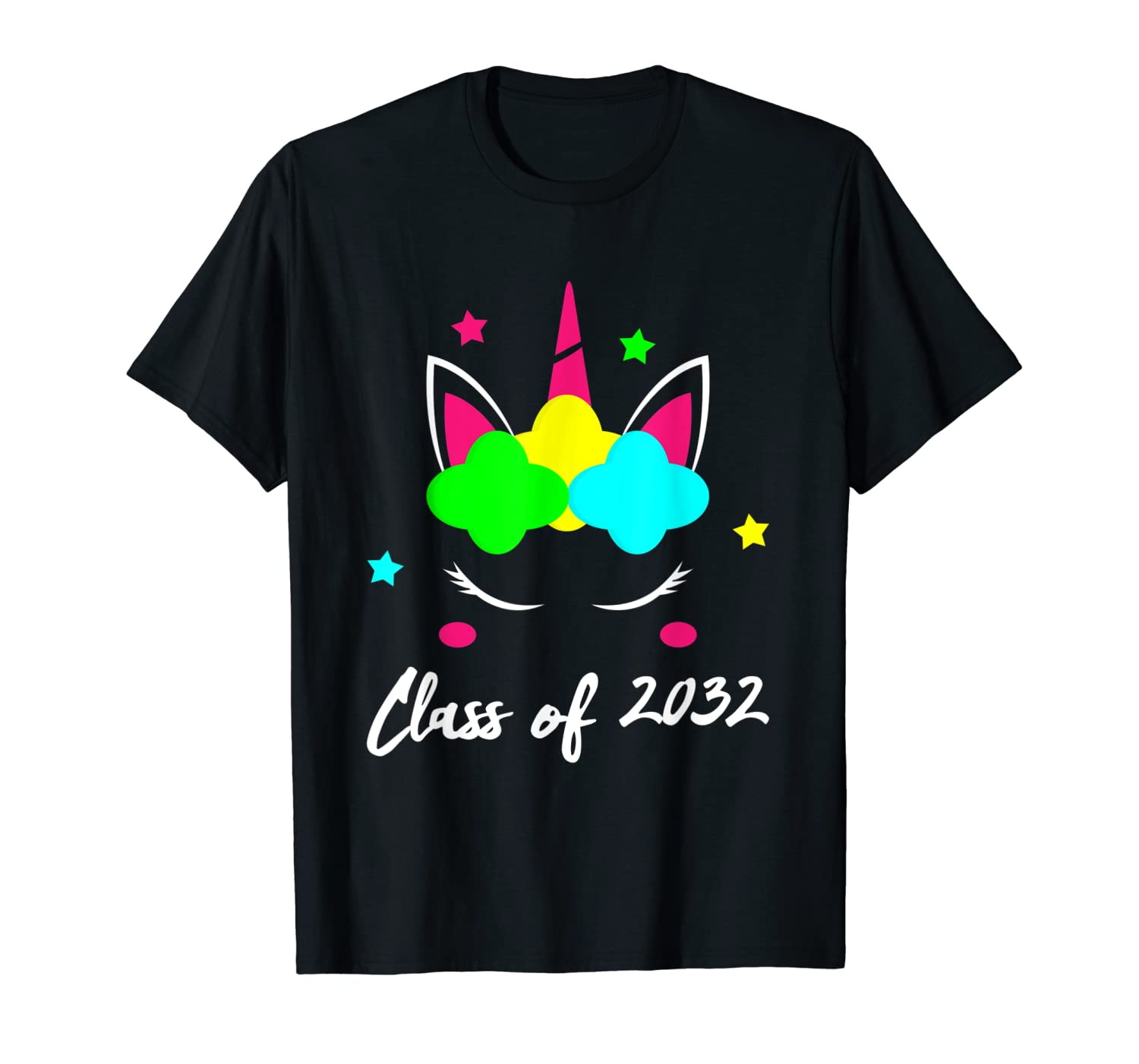 Class Of 2032 Unicorn Grow With Me Graduation First Day Shirts