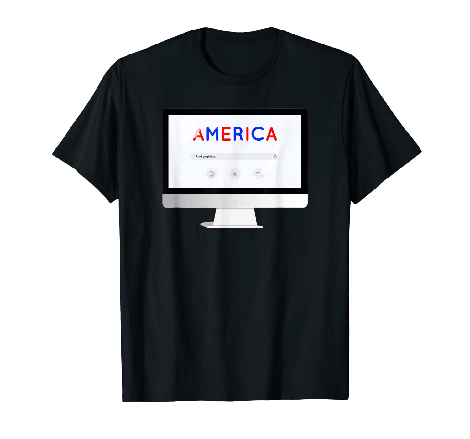 Usa Flag American Computer Patriotic Search S T Shirt