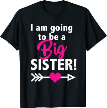 I/'m going to be a Big Sister Shirt FREE SHIPPING,Pregnancy Announcement Shirt,Promoted to big Sister Shirt,Baby Announcement Shirt