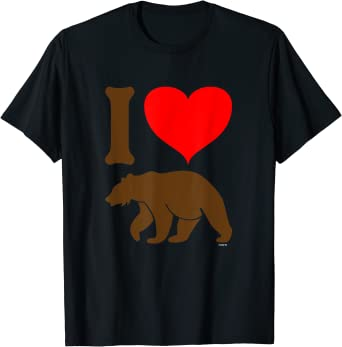 I Love Heart Grizzly Bears Kids T-Shirt