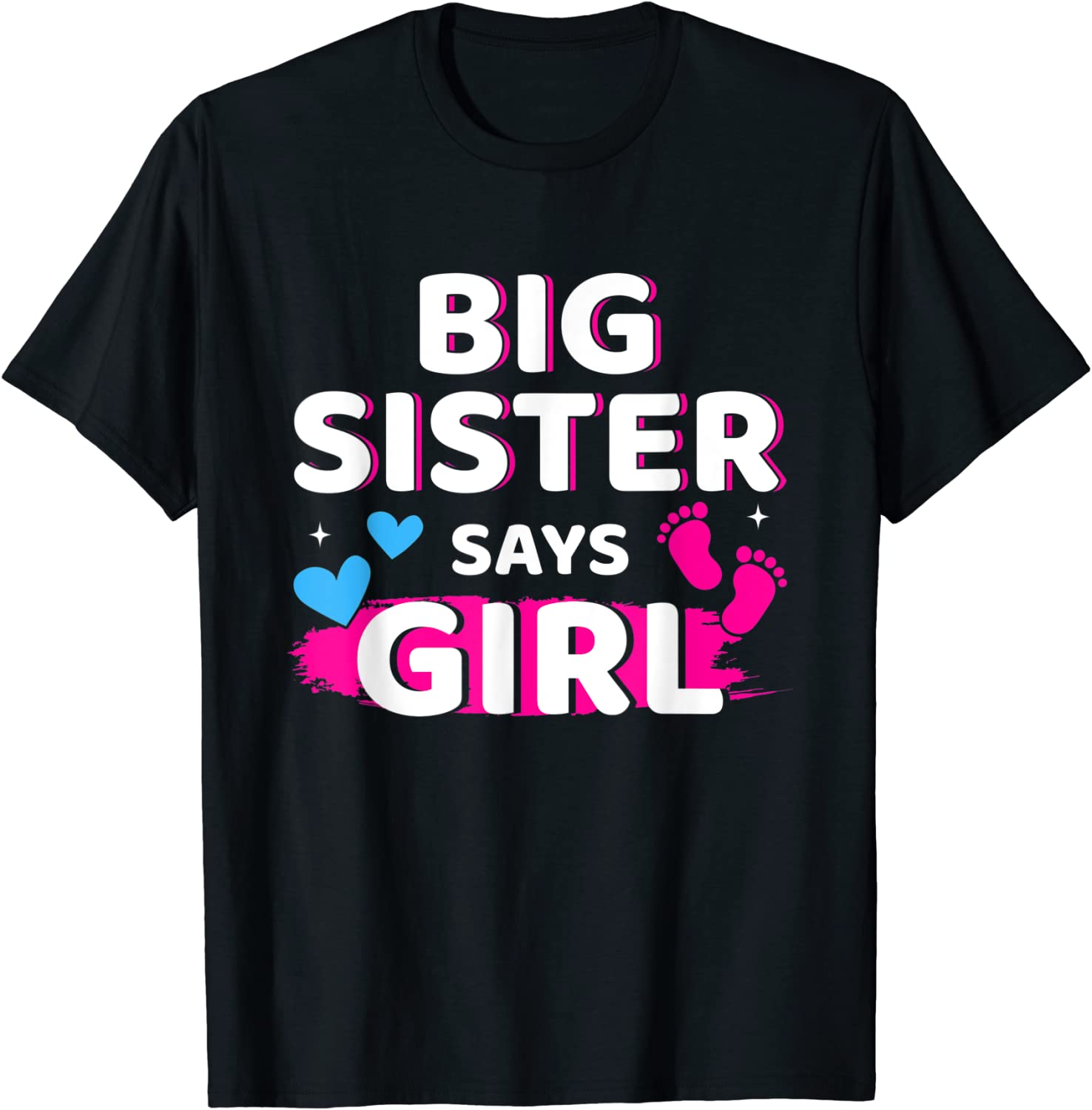 Gender Ranking TOP1 reveal sister says Japan Maker New girl baby T-Shirt party matching