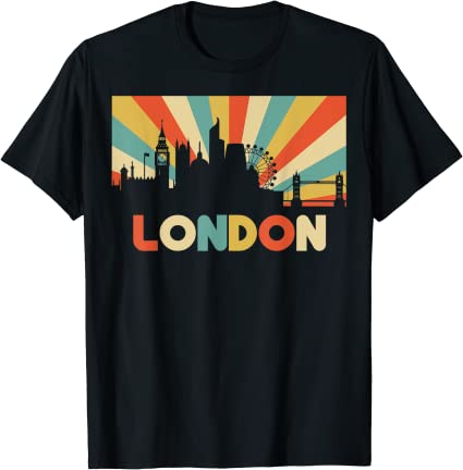 London Shirt  Vintage London T Shirt  Europe  Sunset  City  England  British