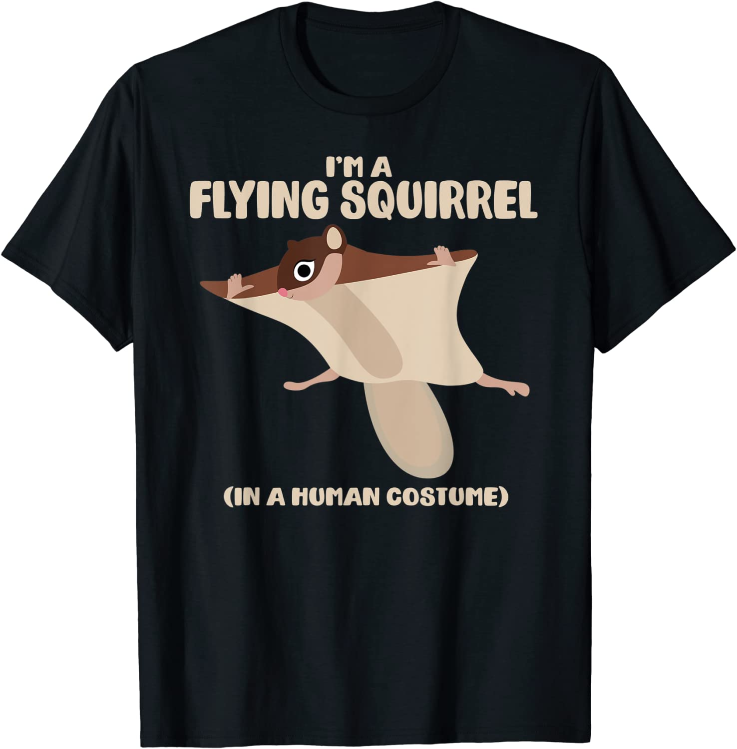 Amazon Com Flying Squirrel Costume Funny Squirrels Halloween Graphic T Shirt Clothing