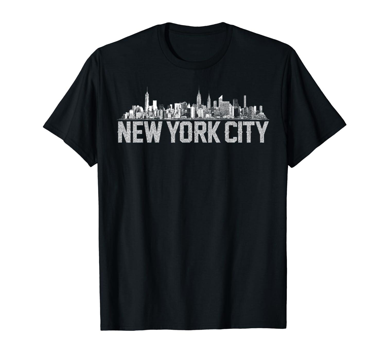 New York City Skyline Shirt For Girls