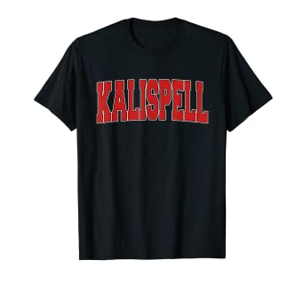 Amazon com: KALISPELL MT MONTANA Varsity Style USA Vintage