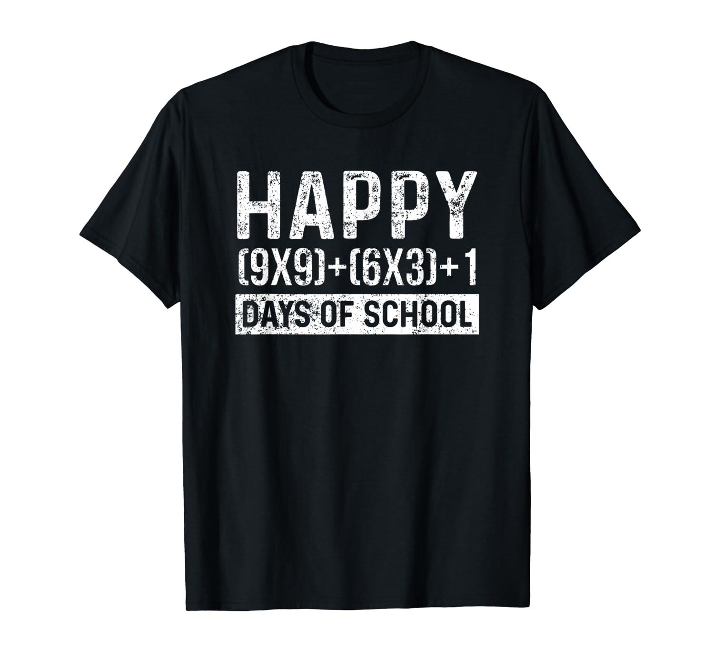 100th Day Of School Math Teacher Student Vintage T-Shirt