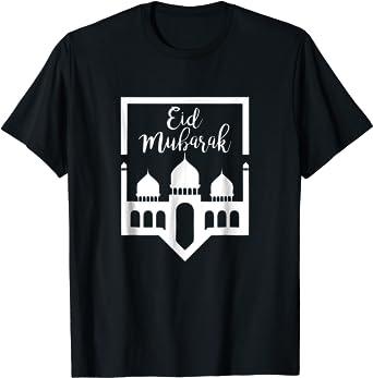 Amazon Com Eid Mubarak T Shirt Gift For Eid Al Adha Eid Al Fitr Clothing