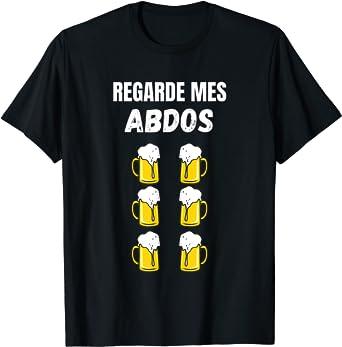 Abdos Biere | Humour Beauf Abdominaux Cadeau marrant homme T-Shirt