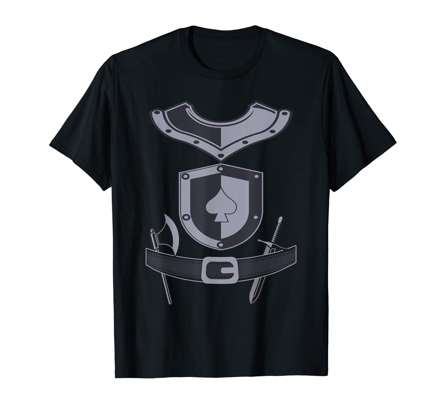 Knight Halloween Costume Medieval Shining Armor T-Shirt