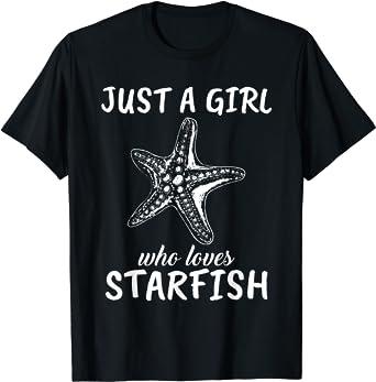 Cute Tee design Animal Lover Tee Starfish gift Ocean Lover T Shirt Gift For Girlfriend Unisex starfish Shirt Cute Starfish T shirt
