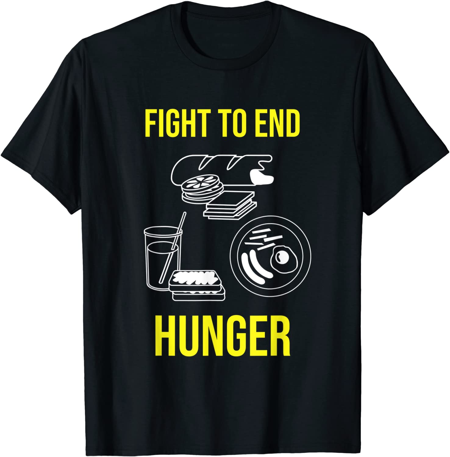 Fight to End Hunger: Life is Food T-Shirt