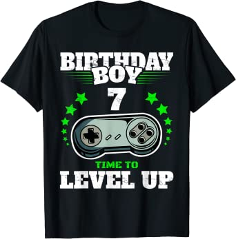 I Level Up Funny Gaming T shirt Mens Boys Kids Birthday Retro Gift for Gamers