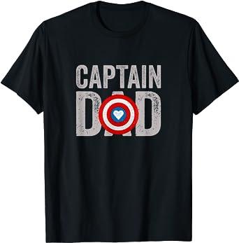 Homme Super Captain Dad Superhero T-Shirt