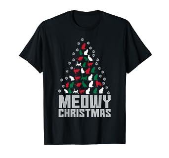 Meowy Christmas.Meowy Christmas T Shirt Cute Christmas Cat Shirt Gift