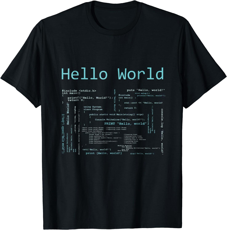 Computer Programming Languages T-Shirt Hello World