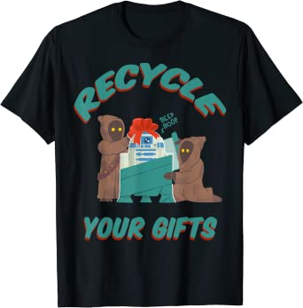 Star Wars Christmas Jawas Recycle Your Gifts R2-D2 T-Shirt