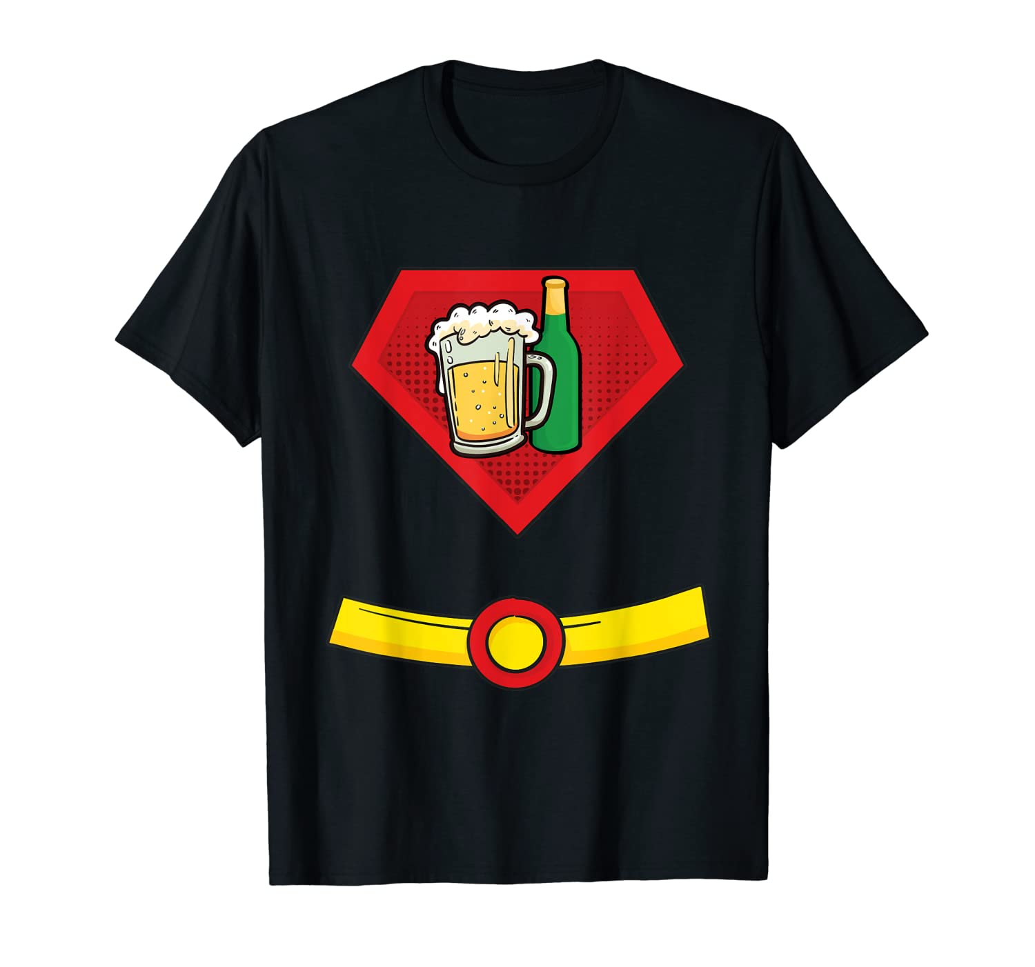 Beer Man Superhero Halloween Costume T-Shirt