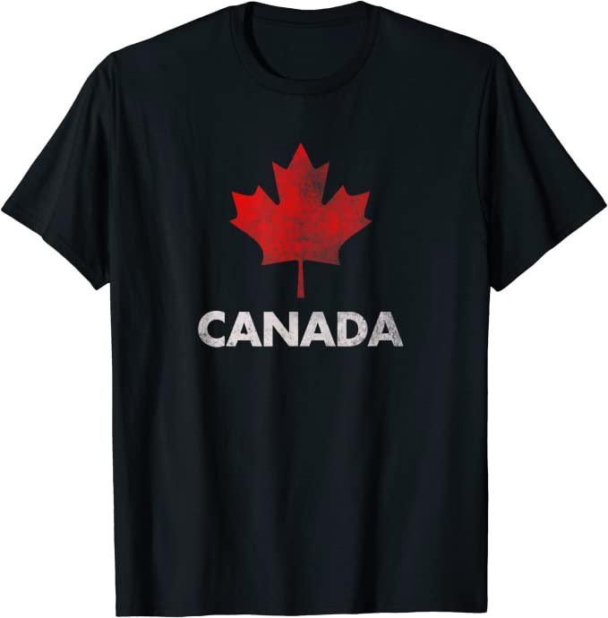Vintage Retro Canadian Maple Leaf Shirt
