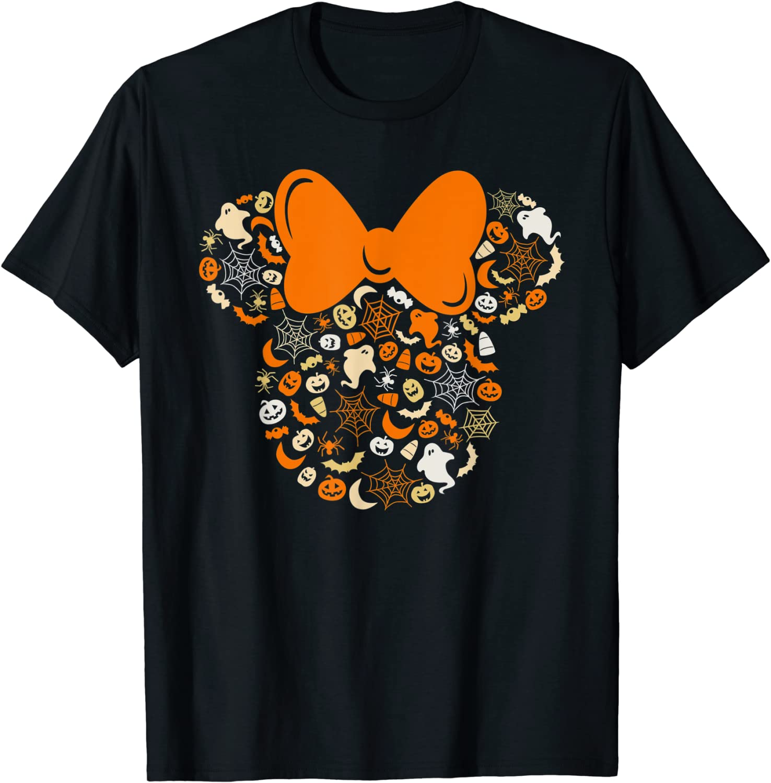 Disney Minnie Mouse Halloween Ghosts Pumpkins Spiders T-Shirt