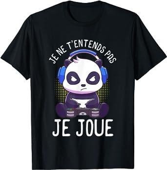 Panda T-shirts de gaming homme garçon gamer cadeaux homme T-Shirt