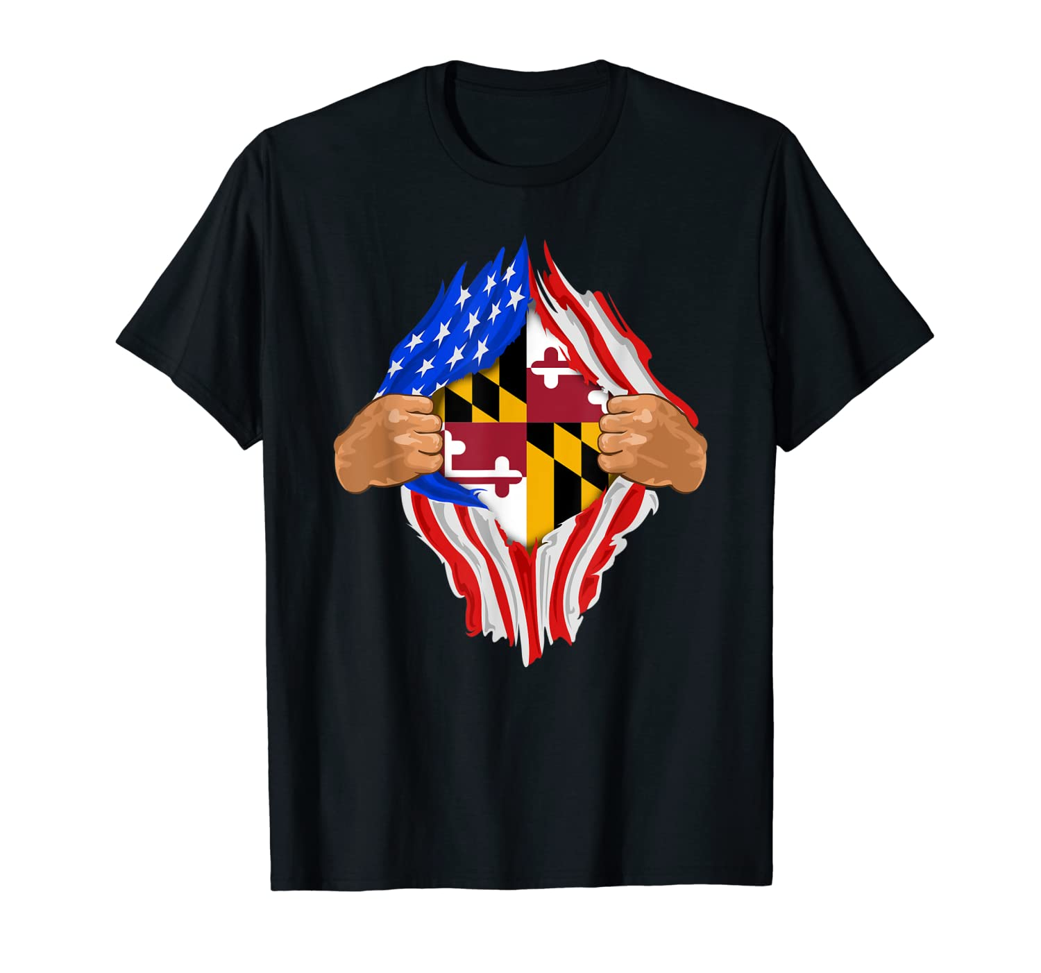 Maryland Roots Inside State Flag Shirt | American Proud Tee-ANZ