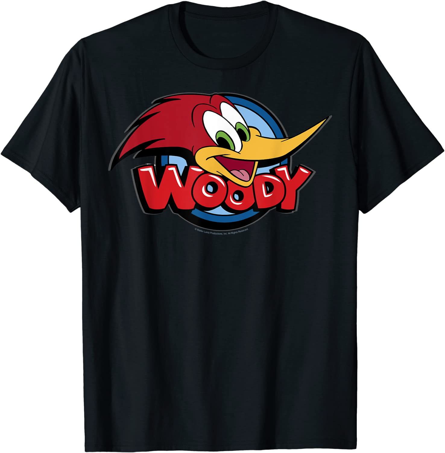 Woody Woodpecker Nippon regular agency Large T-Shirt Don't miss the campaign Logo Face