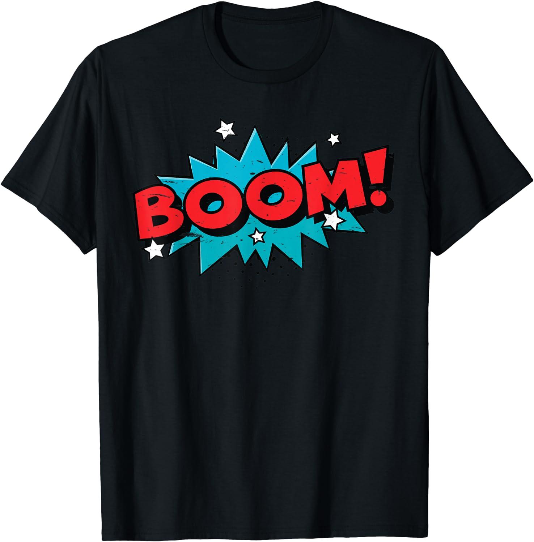 BOOM Ranking TOP20 Comic Book Cartoon Funny Pop - Design Vintage T-Shirt Albuquerque Mall Art