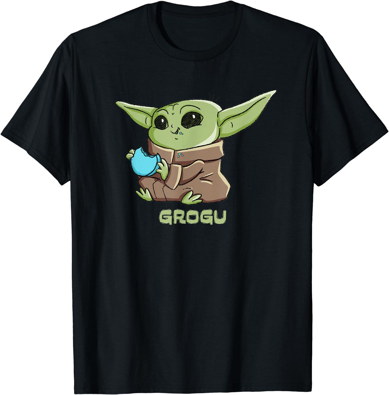 Star Wars The Mandalorian Child T-Shirt Bargain Max 73% OFF Blue Grogu Macaron