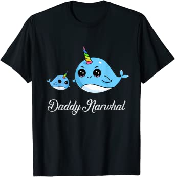 There/'s Narwhal I/'d Rather Be Shirt Valentines Tee Gnarly Narwhal T Shirt