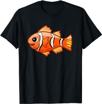 Cute Clownfish Cartoon Funny Clown Fish Aquarium Kids T-Shirt