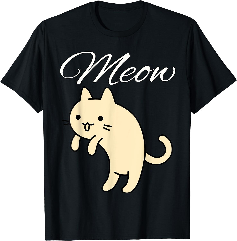 Meowing Kitten Meme Cartoon T-shirt