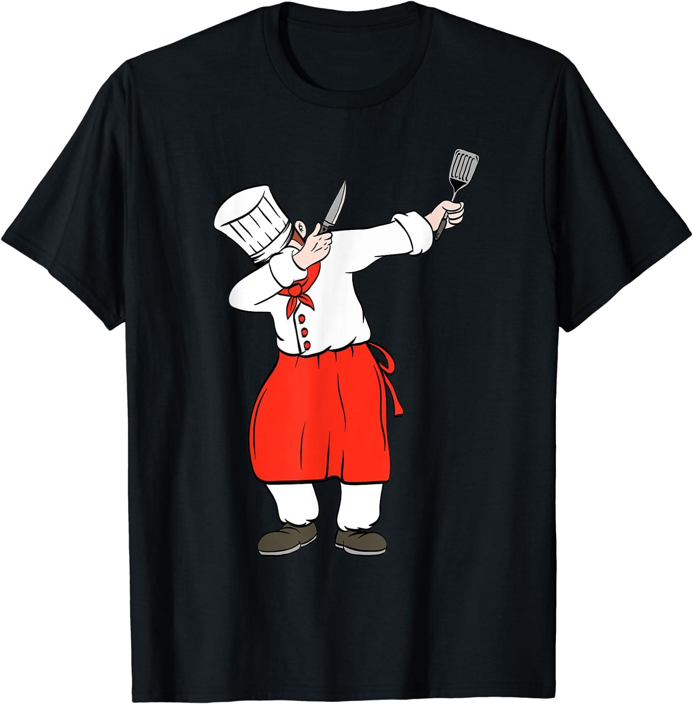 Dabbing Chef Food Lover Tshirt T-Shirt