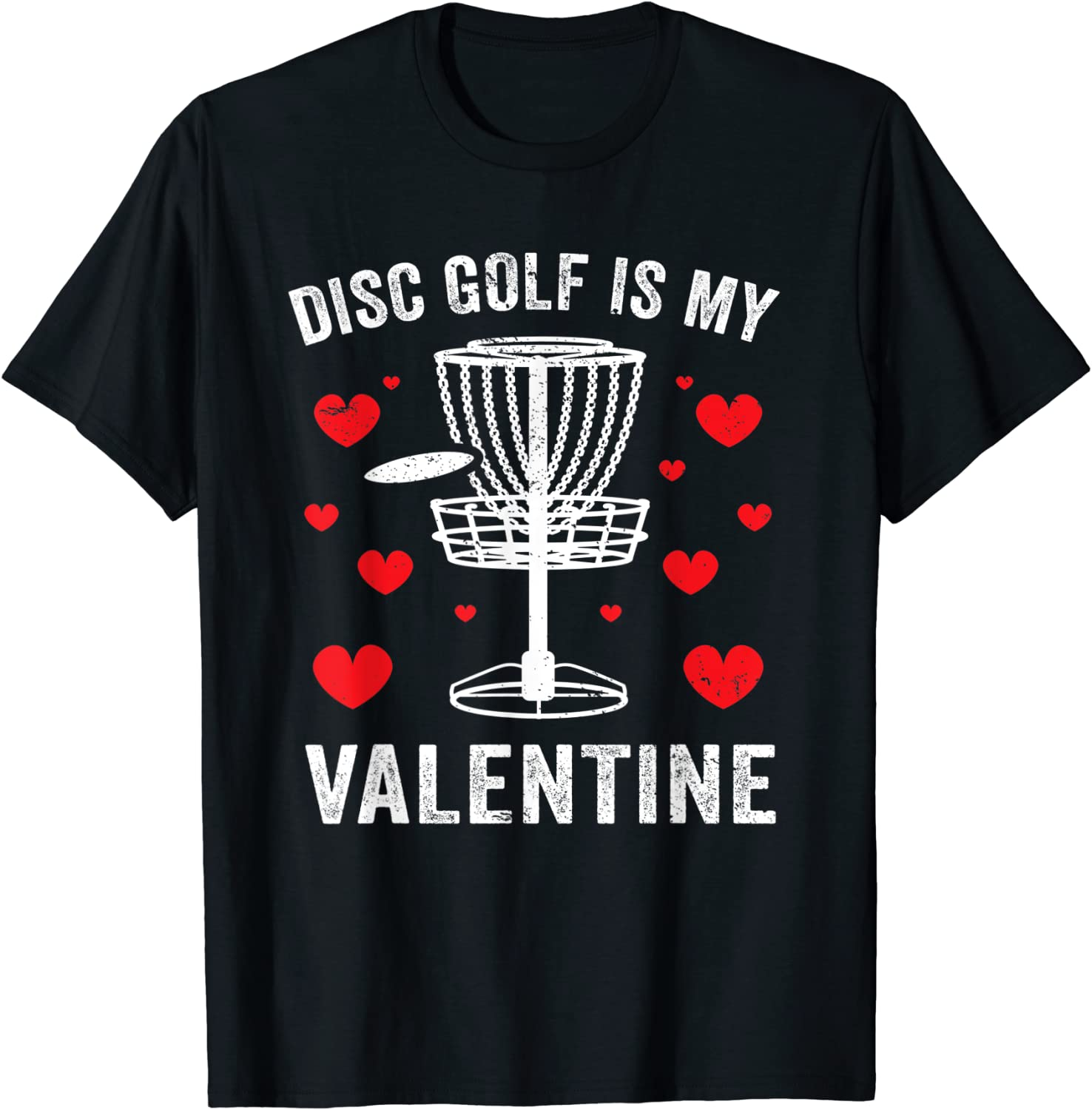 Amazon Com Cute Disc Golf Hearts Funny Valentines Day Boys Mens Gift T Shirt Clothing