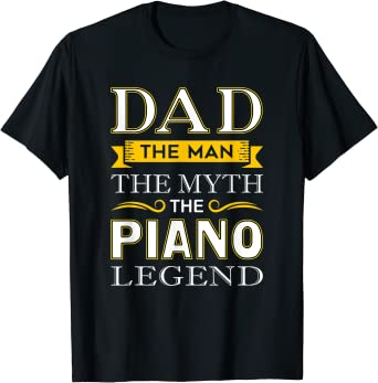 Piano GRANDAD Mens T-Shirt FAMILY Relations Gift Music Musician Pianist Father