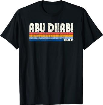 Vintage 70s 80s Style Abu Dhabi, UAE T-Shirt