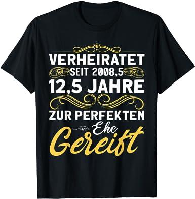 Petersilienhochzeit 12,5 Jahre Ehe Ehepaar T-Shirt: Amazon