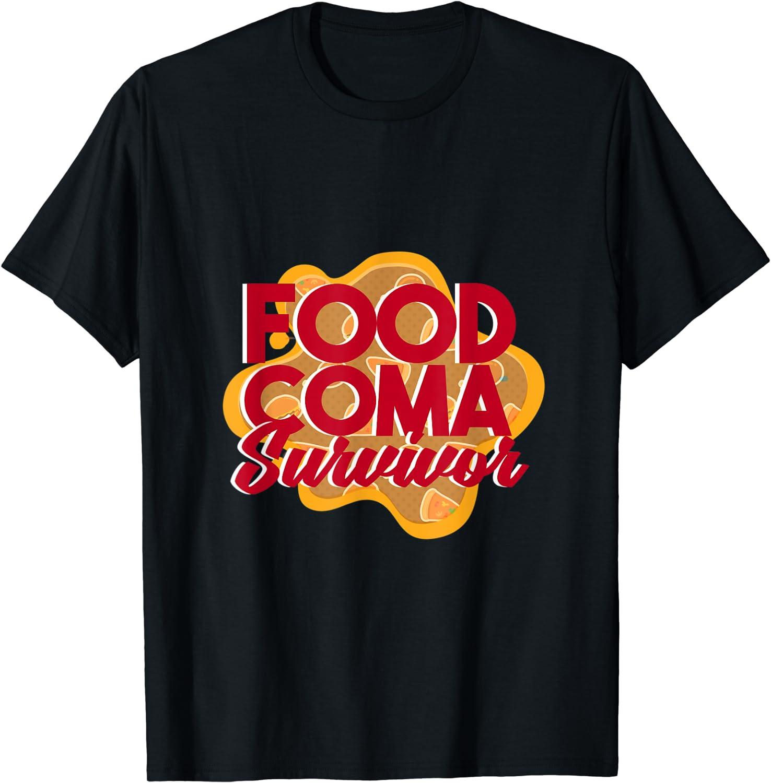 Vintage Thanksgiving Funny Food Coma Survivor T-Shirt T-Shirt