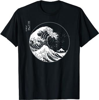 La Grande Vague au large de Kanagawa Hokusai Art japonais T-Shirt