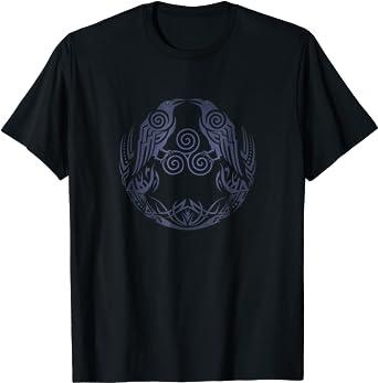 Details about  /Mens Womens Unisex S-5XL 100/% cotton White T-shirt Black Raven viking bird top