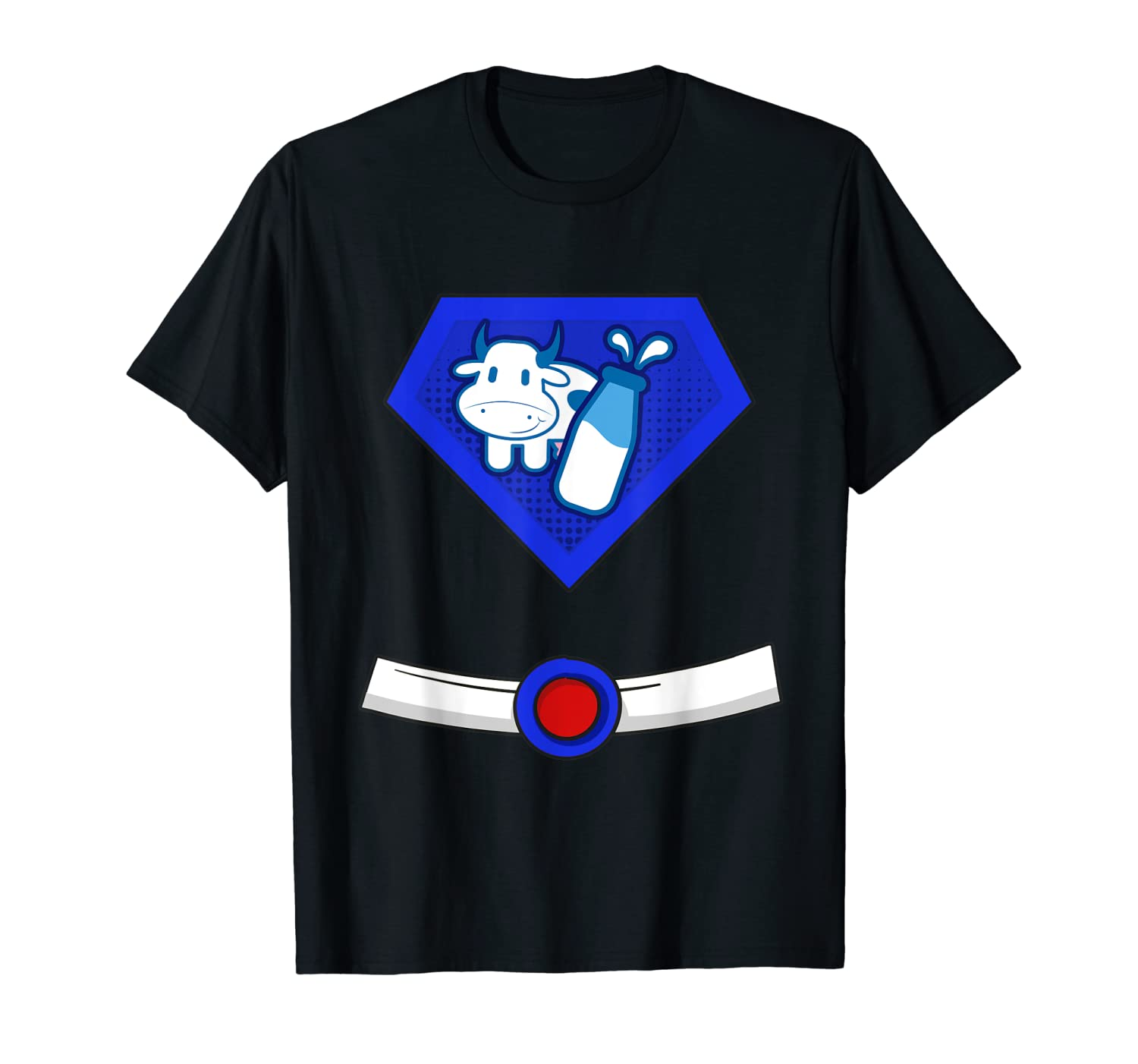 Milk Man Superhero Halloween Costume T-Shirt