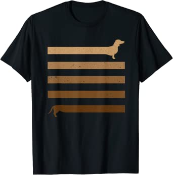 Divertido regalo largo perro salchicha larga Camiseta: Amazon ...
