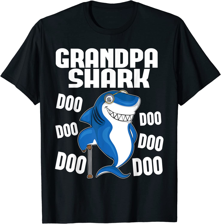 Daddy Shark Doo Doo T-Shirt Funny Dad Father Gift online song cartoon novelty