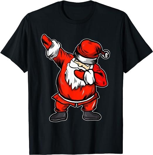 Regali Di Babbo Natale.Divertente Babbo Natale Dabbing Regali Di Natale Maglietta Amazon It Abbigliamento