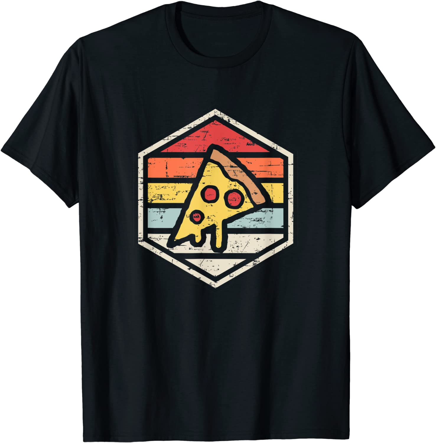 Retro Pizza | Junk Food T Shirt T-Shirt