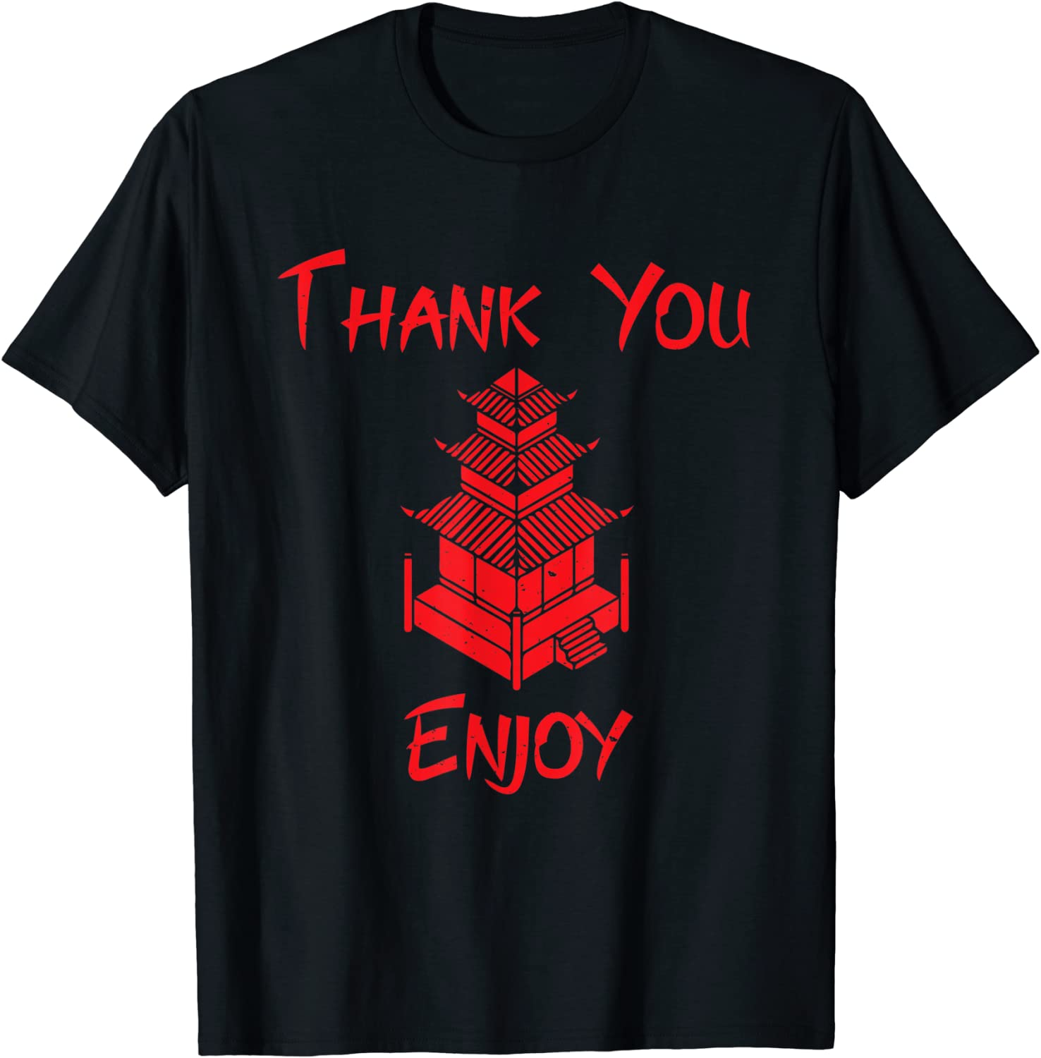 Chinese Take Out Food Costume Thank You Enjoy T-Shirt