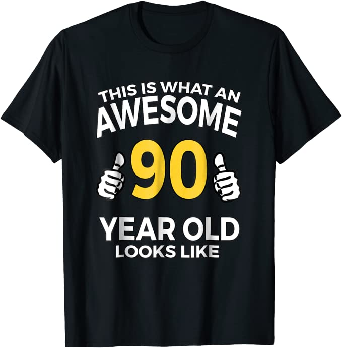 Mens 90th Birthday T-Shirt VINTAGE QUALITY 90 Today Funny Present Gift Top