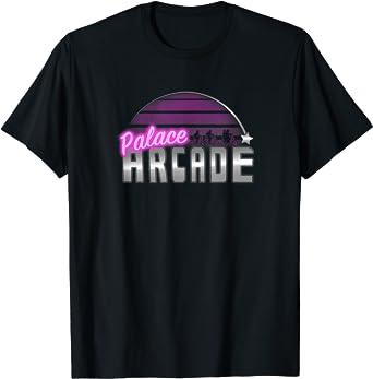 Stranger Things Palace Arcade Purple Neon Logo T-Shirt